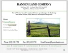 Hansen Land Company: Foothills Alberta Real Estate